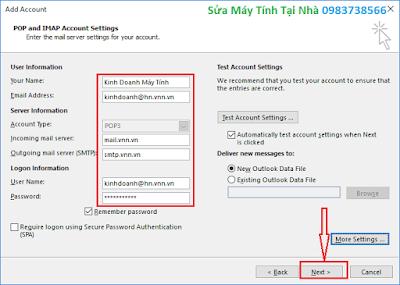 Hướng dẫn cài đặt Outlook 2016 - H05
