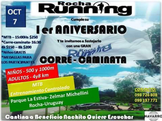 8k y 4k Correcaminata Rocha running y MTB (Rocha, 07/oct/2017)