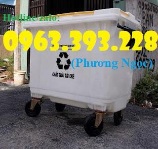 Thùng rác nhựa 660L 4 bánh xe ,xe gom rác rác nhựa HDPE giá rẻ. 2cbc81a7ea650c3b5574