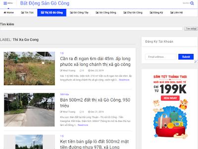 Ra mắt website cung cấp thông tin bất động sản Gò Công miễn phí