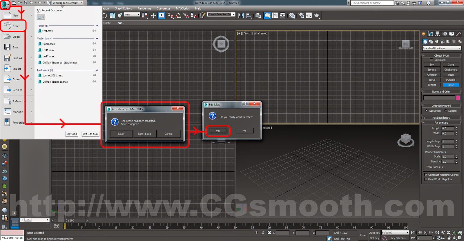 Tutorials For 3ds Max: Assembling the Bicycle - 3ds Max