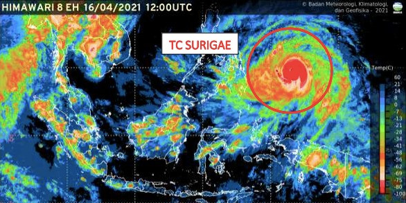 Sembilan Provinsi Diminta Waspadai Siklon Tropis Surigae