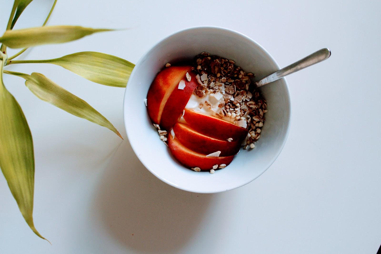 Pequeno almoço rápido e saudável