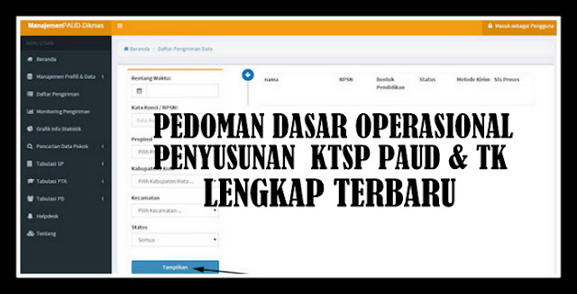 Download Pedoman Dasar Penyusunan KTSP PAUD & TK Lengkap