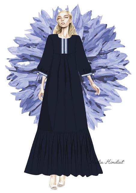 Платье. Модель PL- 385. Автор: Nadia Himdiat