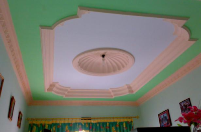 warna cat plafon gypsum minimalis modern