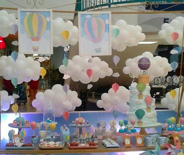 Ideas para tu mesa de dulces con globos aerost ticos for Decoracion de oficinas creativas