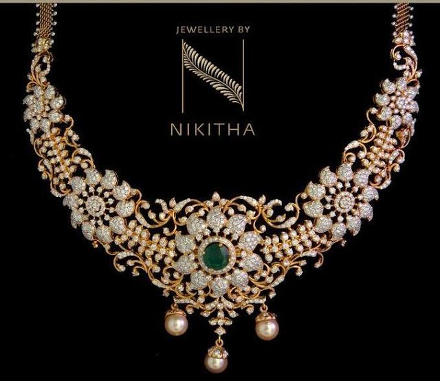 Epic Floral Diamond Set by Nikitha Linga