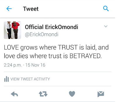 Eric Omondi tweet