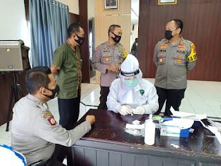 75 Personel Polres Sinjai BKO Pengamanan Pilkada Jalani Rapid Test