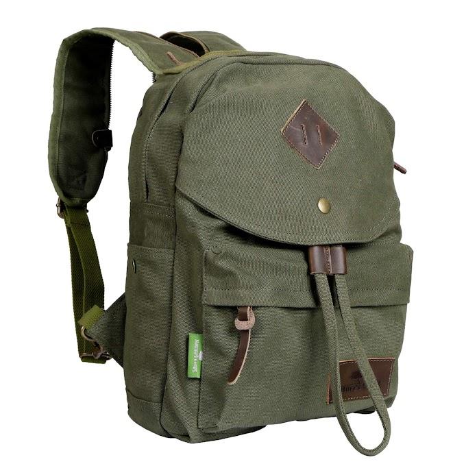 AMAZON - 30% off Canvas Backpack Vintage Casual Bag Shoulder Sling Daypack Drawstring Travel Rucksack, 25L