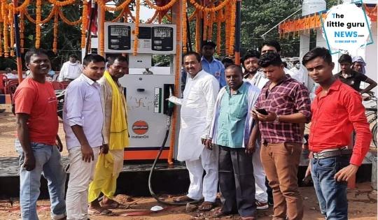 सुगापीपर में इंडियन ऑयल के मां सुमित्रा फिलिंग स्टेशन पेट्रोल पंप का हुआ उद्घाटन