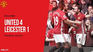 Video Gol Manchester United vs Leicester City 4-1