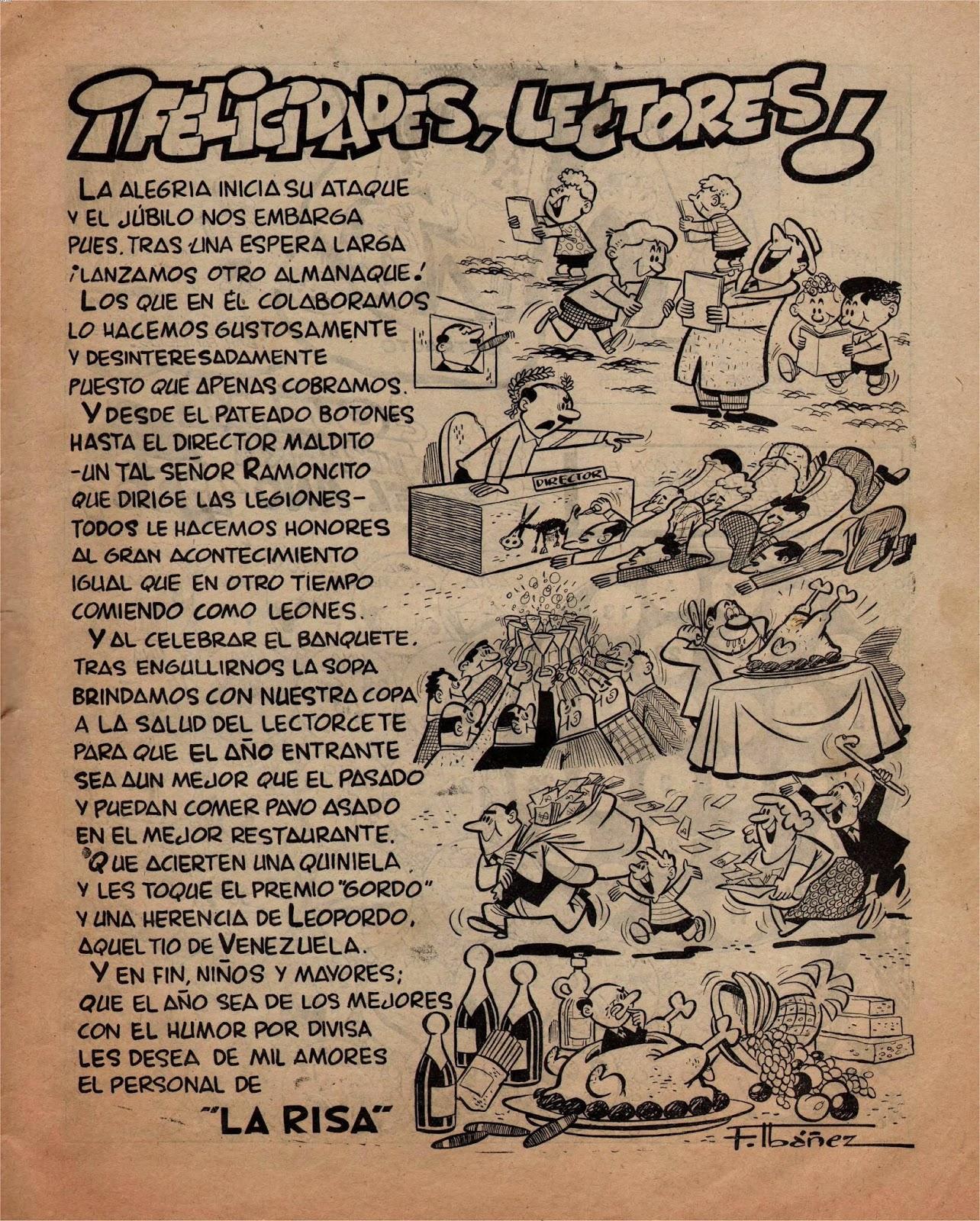 Felicidades lectores, la Risa Almanaque 1958