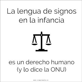 La lengua de signos en la infancia es un derecho humano (y lo dice la ONU)