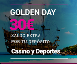 Goldenpark bono recarga 30 euros solo hoy 9 enero 2021