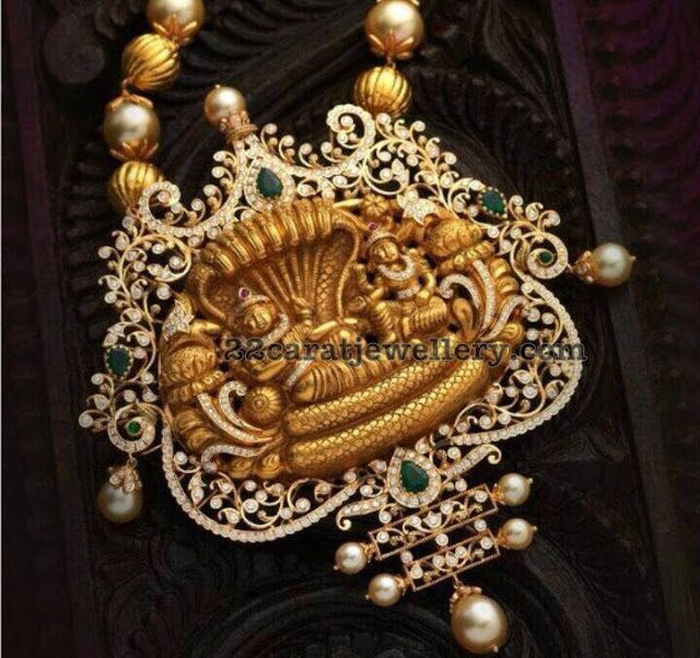 Vishnu Pendant with Diamonds