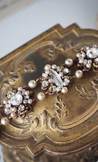 bridal rhinestone and pearl bracelet