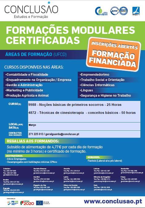[Guarda] Ofertas de formação financiada para 2019
