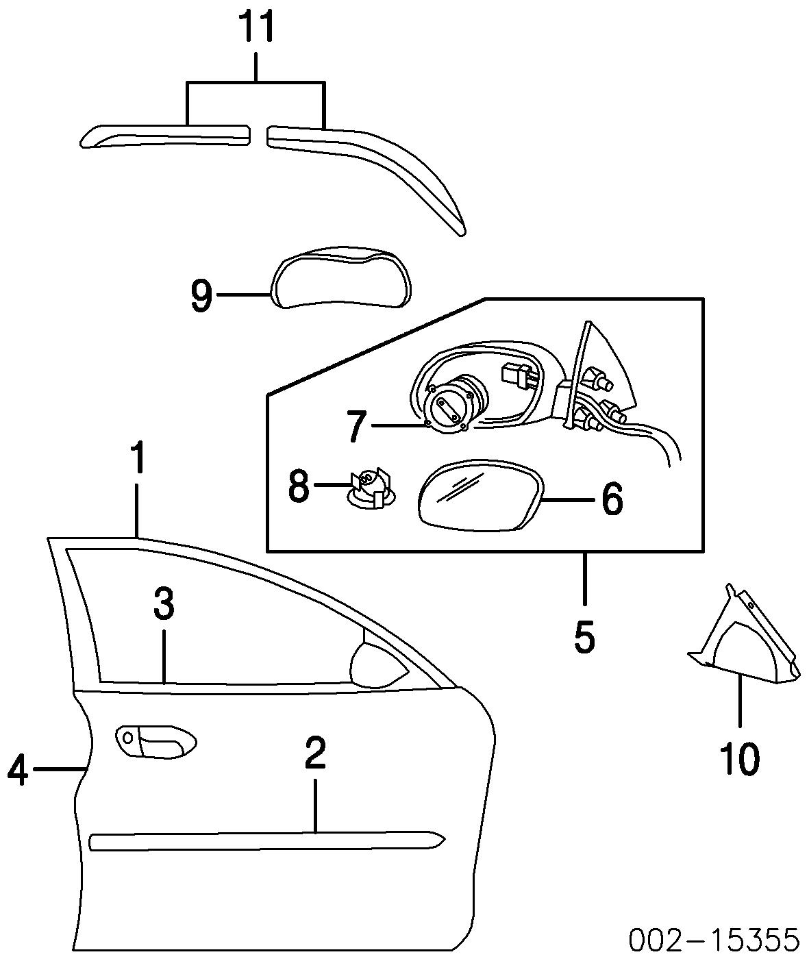 Ford Taurus Front Door