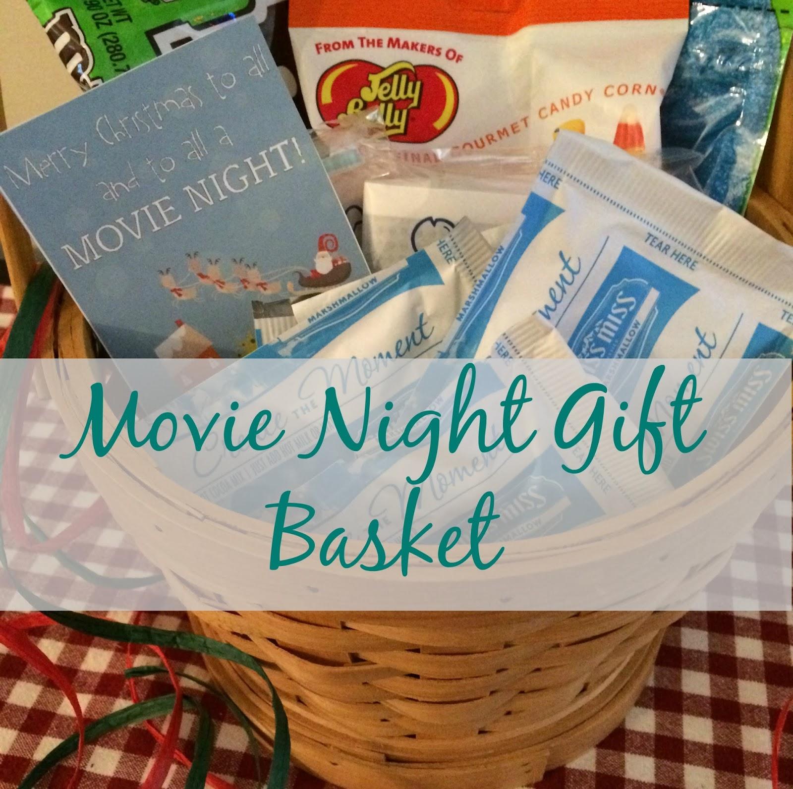 Christmas gift movie basket