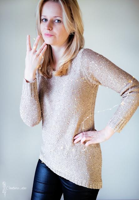 złoty sweter zara