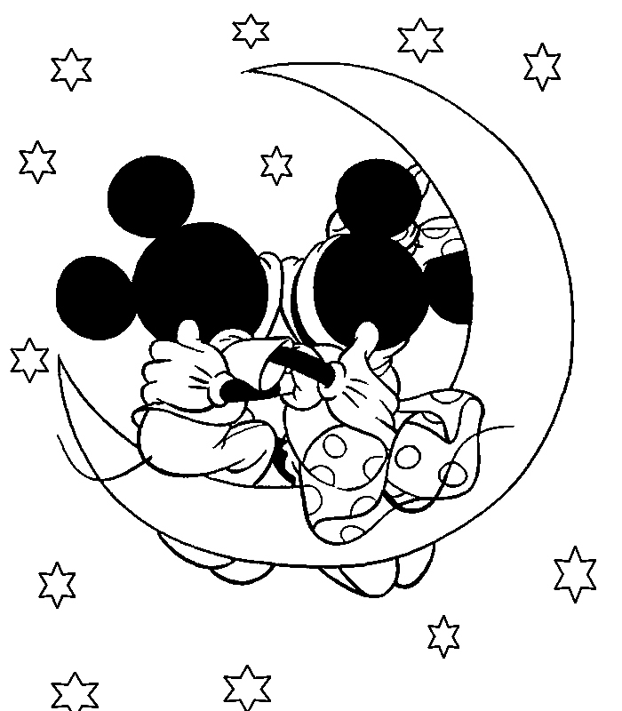 Mickey mouse and minnie mouse kissing disney coloring for Mickey mouse minnie mouse coloring pages