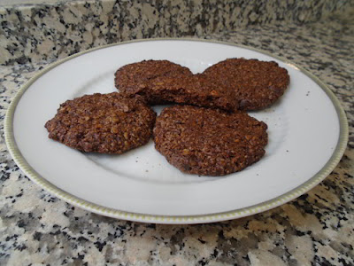 Galletas de avena, cacao y pistachos