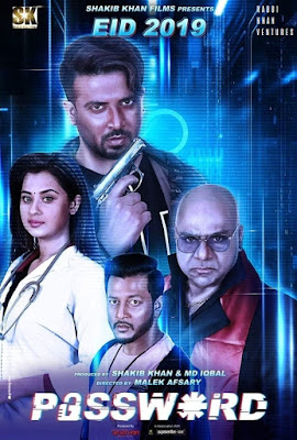 'Password' is a Bangladeshi action thriller film directed by Malek Afsari in 2019. The film is starred by Shakib Khan, Shabnom Bubly, Misa Sawdagar, Amit Hasan, Mamnun Hasan Emon and many. The film is produced by Shakib Khan and Mohammad Iqbal, under the banner of SK Films. The director tried to keep important information in secret from the audiences but they understood seeing the important scenes of the film that the film is copied from a South Korean film 'The Target' directed by Yoon Hong-seung in 2014.    Shakib Khan and Shabnom Bobly in Password (2019) Movie    However, after hearing the word 'Password' what kind of idea can be produced in mind? 'Technology'? Absolutely, right. After hearing the word 'Password', I also thought that this is not like a simple/normal film. Of course, it will be a sci-fi (science-fiction) film. Actually, my first idea was wrong. There is no relation of technology or digital technology with this cinema. Rather, after watching this movie, the important words would come into your mind are; a pen drive, password, money, swish bank, murdering, desire or greediness, humanity, justice, punishment and love. Really, if you watch the film, at first these words will come into your mind. But before watching it, you thought many about it. Though the title of the film 'Password' of West Bengal is similar to this, it seems the film 'Password' of Kolkata may be something about science fiction. We get hints from this film's poster. After seeing the poster of the film 'password of Bangladesh, I thought that the film would be about science fiction. For example; in the poster we see three reflection of Shakib Khan, in front of, Shakib Khan is looking in the mid shot taking a pen drive in right hand. Tow tube lights are lighting above the head. There are two more photos in the right and left side of him we watch them by half, the rest half the photos are in the backside of the front side photo, these are behind him. We don't see them in the eyes. From the frame, the photos are staying at the same destination. And being drawn line from upper to lower of the full poster, the right half side of him is something reddish, red color and the left half side is bluish, blue color. In the bottom, the words written in English 'P🔓SSW*RD' with white color beautifully within whom instead of 'A', an unlock sign is used and instead of 'O', '*' sign is written. But however, much brilliance is used to produce this poster. I like it specially.    Password (2019) Bangla Movie Poster    What will I tell you about the contents? The full film is hidden among the above important words. There is no need to tell the plot. You, watching the cinema in the cinema hall, of course, can know the plot of the film. As the film is released on 5 June, let it do business then the plot will come into everyone's mouth.    Watched such a big film but did not see a big performance of the hero. No-a-days, the cinemas are rely on hero. And if the hero is in the film, of course, the heroine also will be available. After watching the film, it is easy to understand that the director wanted to form the character of hero but failed. On the other hand Emon enters into his filmic character. Seeing his casting, performance, I am really amazed at. The man casts so beautiful, his dialogues are also awesome and tight. But the dialogues of the whole film is not tight, it seems the dialogues are very normal that the audiences hear them daily. So, it should be done something different and tight importantly. In the film in some scenes, there is no need of dialogues. The audiences understand what is happening and what will happen in the next scene. Cause, the audiences understand eighty percent seeing the video that what is happening and what will happen in the next and they like twenty percent sound/dialogues that helps them to understand the full movie. Most of the time the audiences feel disturbance when they hear dialogues most times. But there must need dialogues in some places. Specially, in sorrow or happy moment no one want dialogues because they can understand and want to retrieve the inner information.    Password (2019) Bangla Cinema Poster    There are four songs in the cinema. Among them one of is 'Pagol Mon' (mad mind) that is familiar to everyone. So, without this song, a creative song could be added in the film or it would go on without using songs. Cause, romantic scenes are not available here mostly.    The casting of Shakib Khan, Amit Hasan, Shabnom Bubly, Misa Sawdagar is predictable. But the performance of Emon is much better. The most important thing in the film being felt deficiency to me is that 'Emotion' I have felt deficiency of 'Emotion' in every scene of the film. A man's psychological understanding is being changed by occurred an event/accident. Emotion is being changed. Like, suppose, after a man's death what will be happened of his nearest person. In the film three person's death is occurred but I did not notice their nearest person's psychological and emotional change. I felt the deficiency of emotion in every scene of the film.    But however, overall, the performance of all the characters will be different to anyone. Actually, my rating in IMDb is 7/10.    Watch the official trailer of the cinema 'Password' (2019) here...      Download the full movie 'Password' (2019) here...