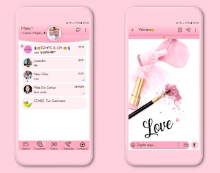 Makeup Love Theme For YOWhatsApp & Fouad WhatsApp By Mary Silva