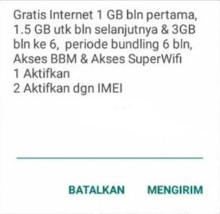 paket internet bulanan indosat gratis