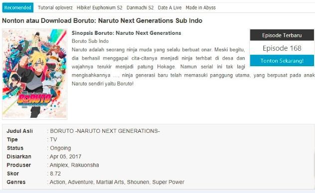 Situs Tempat Download Anime Boruto Terbaru Tahun 2020