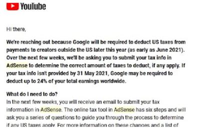 Surat Pajak AdSense YouTube 2021 Simak Solusi Artikel Ini Hingga Selesai