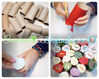 Tubos-de-cartón-como-hacer-un-calendario-de-adviento-reciclando-tubos-de-cartón-creandoyfofucheando
