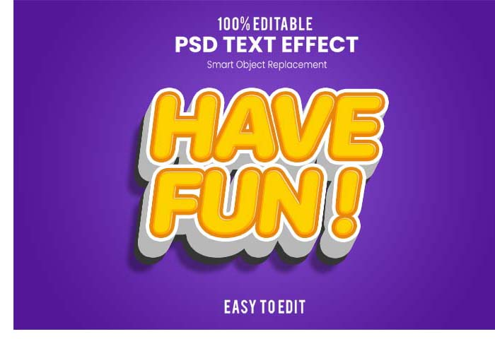 HAVE FUN 3D PSD Mockup