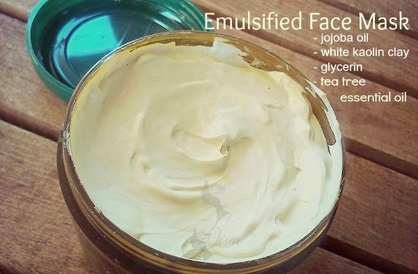 emulsified facial clay