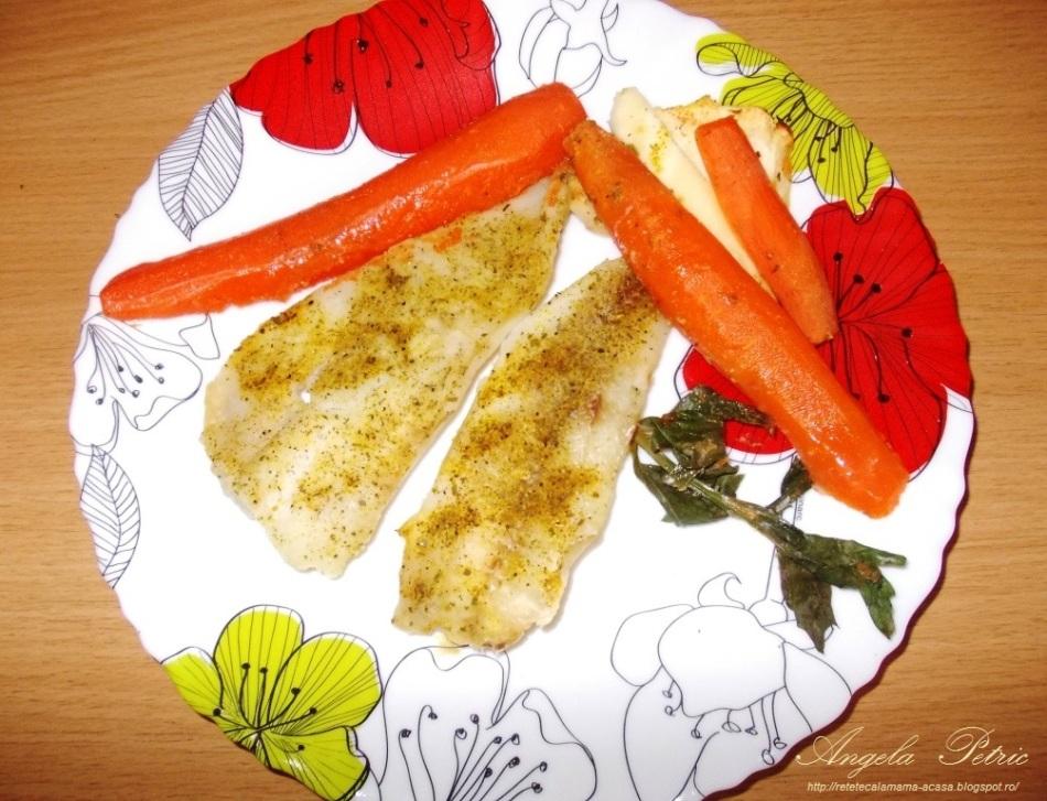 Reteta file de cod la cuptor cu legume