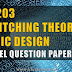 CS203 Switching Theory and Logic Design Model Question Paper