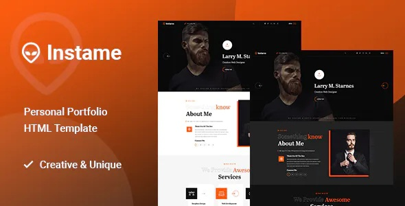 One Page Personal Portfolio HTML5 Template