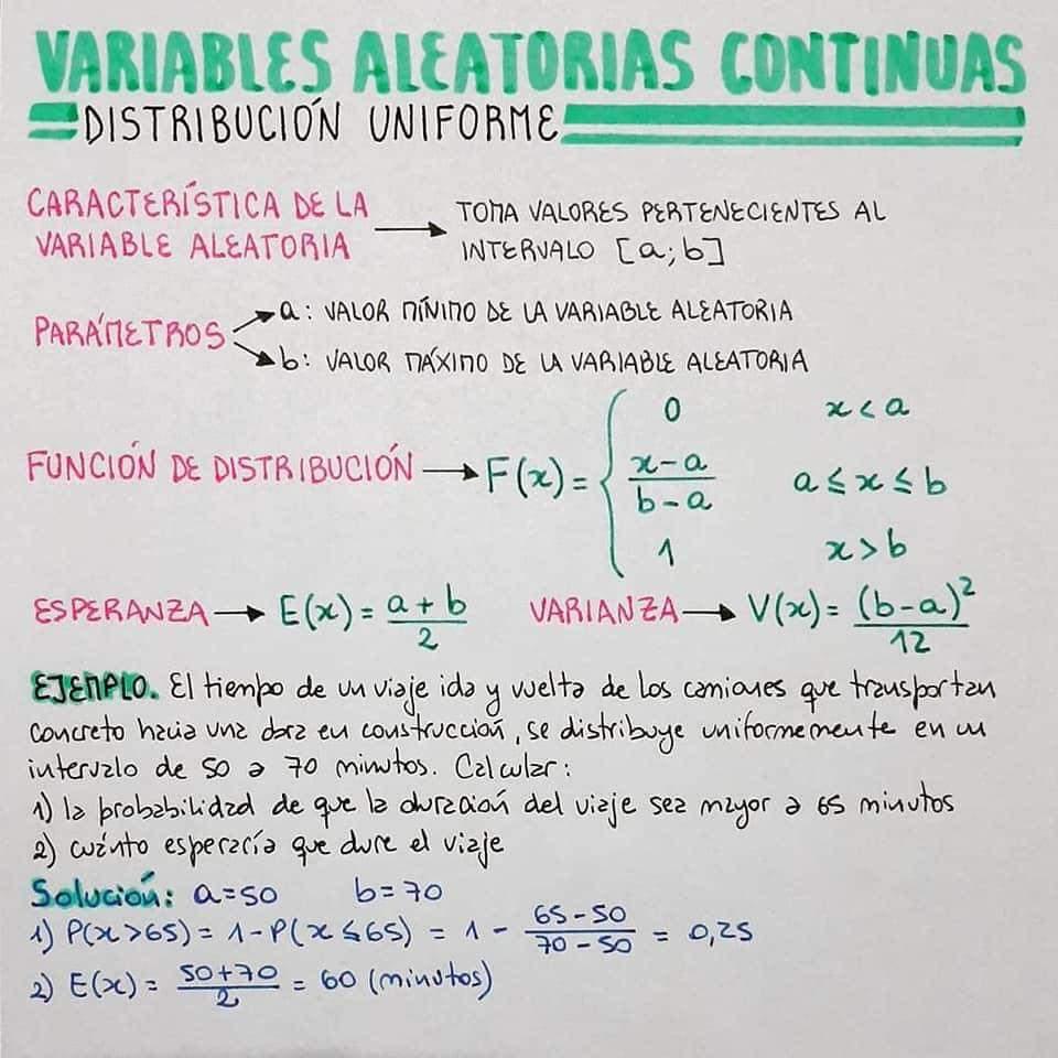 VARIABLE ALEATORIAS CONTINUAS