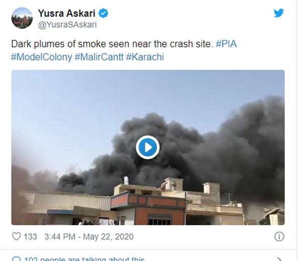 Pak airline crashes in Karachi