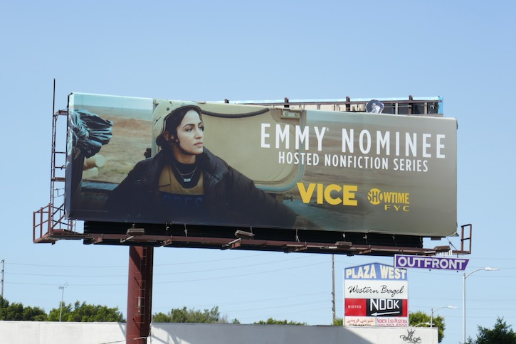 Vice Showtime 2020 Emmy nominee billboard