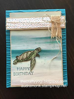 The Crafty Yogi A Beachy Birthday Card