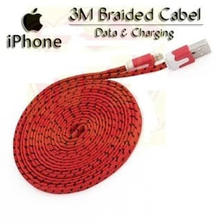 Kabel Charger 3M Tali Sepatu Lightning Cable 3M for Iphone 5/5s/6/6s