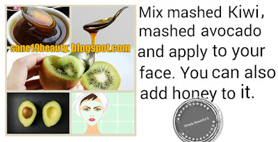 Kiwi-Avocado face pack.