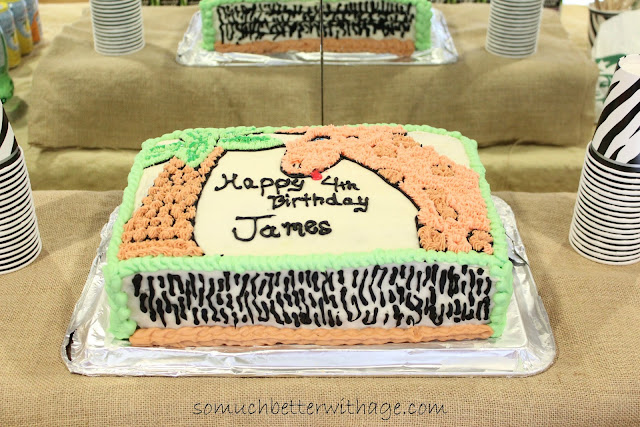 Safari birthday cake www.somuchbetterwithage.com