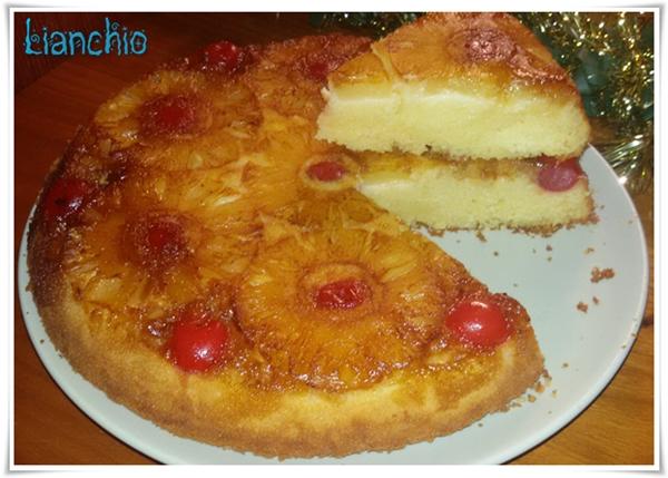 Tarta de Volteado de Piña