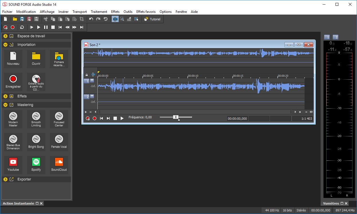 تحميل برنامج تحرير صوت رقمي احترافي يوفر مجموعة شاملة من الأدوات MAGIX SOUND FORGE Audio Studio 14.0.75