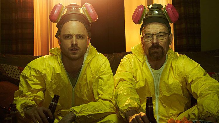 Bryan Cranston y Aaron Paul en Breaking Bad de AMC