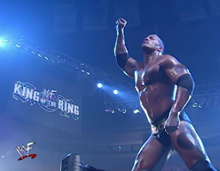 WWE / WWF King of the Ring 2000 - The Rock teamed with Kane and The Undertaker to face Vince McMahon, Shane McMahon, and Triple H